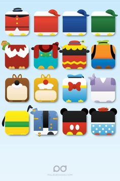 Mickey Mouse characters!