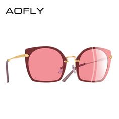 cfeda98f0ca  US  10.96  AOFLY BRAND DESIGN 2018 Cat Eye Sunglasses Unique Frame Vintage Polarized  Sunglasses