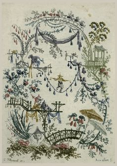 Chinoiserie by Anne Allen (1749/50-1808) working with her husband, Jean Pillement. Cooper Hewitt, Smithsonian Design Museum
