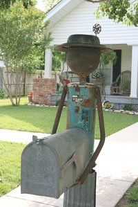 Mail box for actual use or recycle to hold your gardening tools