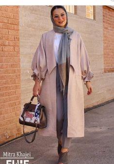 چگونه یک مانتو زیبا بدوزیم؟ | الگو Tokyo Street Fashion, Street Hijab Fashion, Abaya Fashion, Muslim Fashion, Modest Fashion Hijab, Modern Hijab Fashion, Modesty Fashion, Hijab Fashion Inspiration, Fashion Outfits