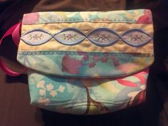 Embroidered Purse.  Really like the fabrics used in this purse, so colorful.  Peace, Robert from nancysfabrics.com