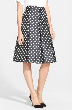 Halogen® Pleat Midi Skirt (Regular & Petite) available at #Nordstrom