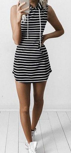 #summer #outfits / striped dress