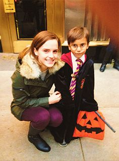 Emma Watson makes young trick-or-treater's day