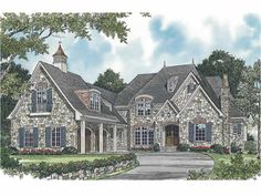 European Style 2 story 5 bedrooms(s) House Plan with 7044 total square feet and 5 Full Bathroom(s) from Dream Home Source House Plans