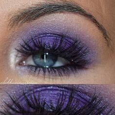 Maaquiagen feita pela maquiadora islandesa @rebekkaeinarsmua usando o Jumbo Eye Pencil Purple