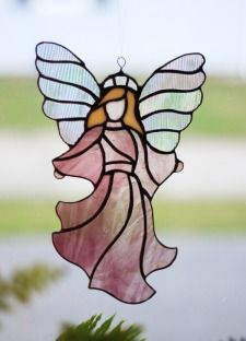 "Stained Glass 8"" Angel"
