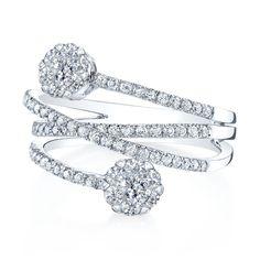 Coronet Diamonds Hunnalye Ring in 14k White Gold. #diamonds #rings #fashion …