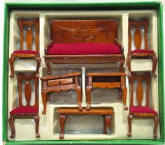 Wooden Doll House Furniture NOS