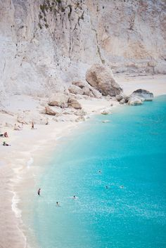 Porto Katsiki, Lefkada, Greece // bay // ocean // beach // blue water // white sand // exotic travel destinations // dream vacations // places to go Dream Vacations, Vacation Spots, Places To Travel, Places To See, Travel Things, Travel Stuff, Travel Tours, Travel Guide, Future Travel