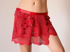Use this upcycled skirt for cover up your swimsuit - great to showcase a major trend this summer! Go seaside in style! This nice bright red skirt is so nice for summer beach season! I made this upcycled wrap skirt from vintage tablecloth which I found in local flea market. I hand dyed