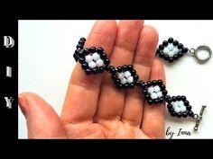 Beaded bracelet tutorial. Easy pattern - YouTube