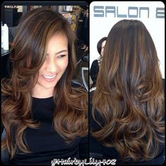 asian hair highlight - Google Search
