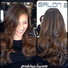 asian hair highlight - Google Search