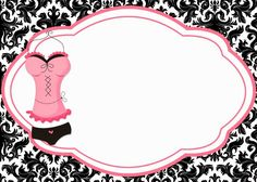 ~ Uma Linda Promessa ~: Download de Convites para Chá de Lingerie