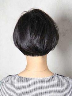 Best Textured Short Bob Hair Back