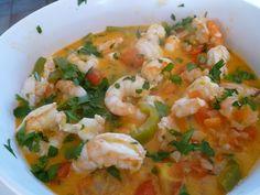 Moqueca de camaroes Risotto, Brazil, Portugal, Fish, Ethnic Recipes, Gourmet, Brazilian Cuisine, Kitchens, Healthy Food