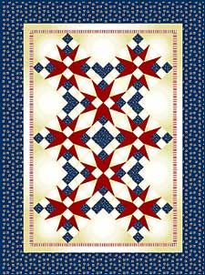 free pattern from McCall's Quilting:  54-40 or Fight Lap Quilt