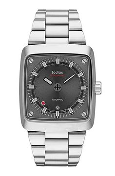 Zodiac 'Astrographic' Barrel Bracelet Watch, 39mm x 45mm available at #Nordstrom