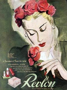 A sophisticatedly beautiful Revlon ad from 1944.