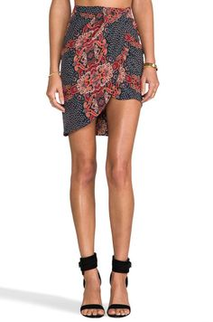 Friend of Mine Fang Draped Skirt in Antique Paisley | REVOLVE