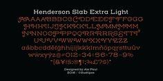 Henderson Slab - Webfont & Desktop font « MyFonts