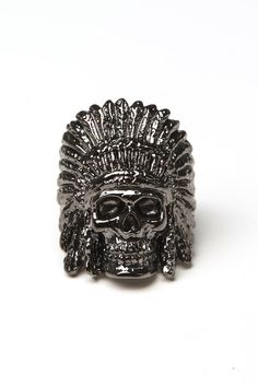 han cholo - indian chief ring (gunmetal) - Han Cholo   80's Purple #hancholo #jewelry #indianchief #gunmetal http://shop.hancholo.com/jzv/p/55/Indian+Chief+Ring?p=c3E9aW5kaWFu