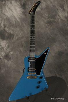 Gibson E2 Explorer 2 1980 Bahama Blue    - <3'd by Stringjoy Custom Guitar & Bass Strings. Create your signature set today at Stringjoy.com  #guitar #guitars #music