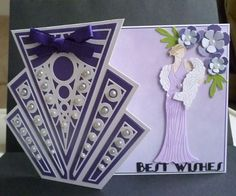 Card made using part of the stepper die with Glitz and Glam Daisy Die