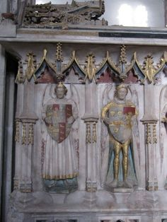 From the tomb of Alice Chaucer, Duchess of Suffolk Church of St. Mary the Virgin, Ewelme, Oxfordshire 1401--1475 Granddaughter of Geoffrey Chaucer Angels on the tomb by Bill Nicholls, via Geograph