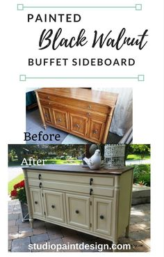 Painted Furniture Refinished Annie Sloan Chalk Paint antique walnut gel stain DIY Inspiration Ideas Painted buffet sideboard - June 08 2019 at Refinishing Furniture Diy, Redo Furniture, Painted Furniture, Refinishing Furniture, Repurposed Furniture, Furniture Making, Diy Furniture Projects, Painted Sideboard, Annie Sloan Chalk Paint Furniture