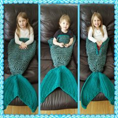 Preschool/toddler crochet mermaid tail blanket
