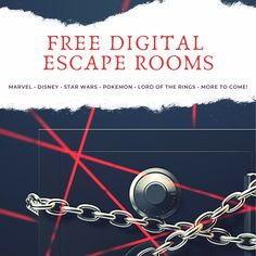Free themed digital escape rooms for families. Marvel Escape Room, Disney Escape Room, Star Wars Escape Room, Pokemon Escape Room, Lord of the Rings Escape Room, and more added every other week! Escape Room For Kids, Escape Room Puzzles, Escape Room Themes, Breakout Edu, Breakout Boxes, Virtual Games, Virtual Class, Star Wars Facts, Spy Games