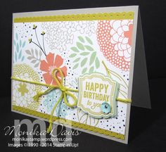 Stampin' Up!'s coordinating products make it so easy to create beautiful cards in no time. Check this one out - The coordinating products in the Sale-A-Bration Sweet Sorbet collection - designer p...
