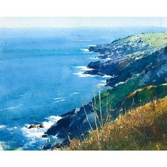 On the Cliff Path, Cornwall by Richard Thorn.