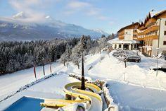 #Outdoor #Pool #Winter #Impression vom #Hotel #Glocknerhof #bergimdrautal #npr3798 #Kärnten #Austria