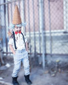 mr. ice cream man  halloween 2015 costume for kids follow on IG @jandeljioni tap on picture
