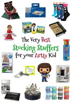 See the joy when your kids discover these items spilling out of their stocking while also fueling their creativity! Best Stocking Stuffers, Small Art, Fun Art, Gifts For Teens, Love Art, Cool Gifts, More Fun, Art For Kids, Christmas Gifts