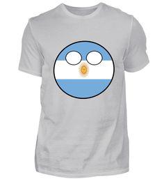 Countryball Länderball Land Heimat Argentinien T-Shirt Basic Shirts, Mens Tops, Fashion, Argentina, Moda, Fasion, Trendy Fashion, La Mode