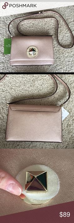 """Kate Spade """"Newbury Lane Sally"""" crossbody NWT Rose gold is the stuff of queens. Love this color. Approx 8"""" W, 5.5"""" H, 2"""" D. New with tags. Please ask questions or request additional photos if necessary, I want you to be happy with your purchase! I do not model or trade ❌❌ kate spade Bags"""