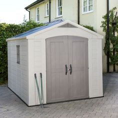 8X11 Apex Plastic Shed & Base Included | Departments | DIY at B&Q