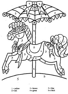 carousel horse familycornercom coloring pages