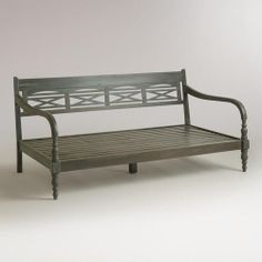 Could serve as a perfect size sofa/place for company in a one bedroom apartment.... at WorldMarket.com: Indonesian Daybed Frame