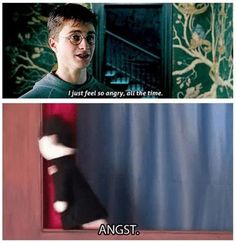 My name's Harry Potter. And I have angst! Harry Potter Love, Harry Potter Universal, Harry Potter Fandom, Harry Potter Memes, Potter Puppet Pals, Yer A Wizard Harry, Mischief Managed, Hogwarts, Nerdy