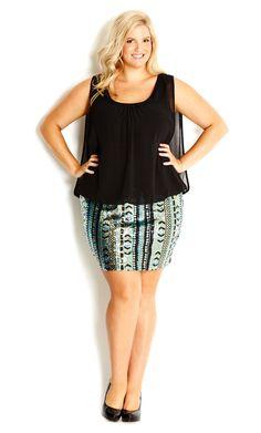 2406867e2 City Chic - SEQUIN ART DECO DRESS - Women s plus size fashion  citychic   citychiconline