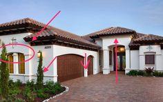 exterior schemes mediterranean colors foam paint homes spanish bump outs bedroom mouldings