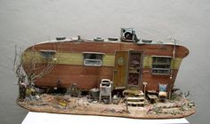 Tim-Prythero-last-trailer - Caption: Tim Prythero's dioramas of Americana show that home is where the heart is. - Credit: