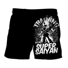 Dragon Ball Z Goku Training To Go Super Saiyan Epic Boardshorts — Saiyan Stuff