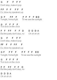 Flute Sheet Music Tik Tok Chorus Only Piano Sheet Music Letters Clarinet Sheet Music Piano Music Easy